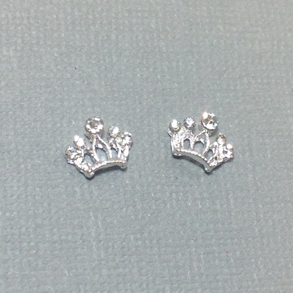 Silver 5 Point Rhinestone Crown (2)