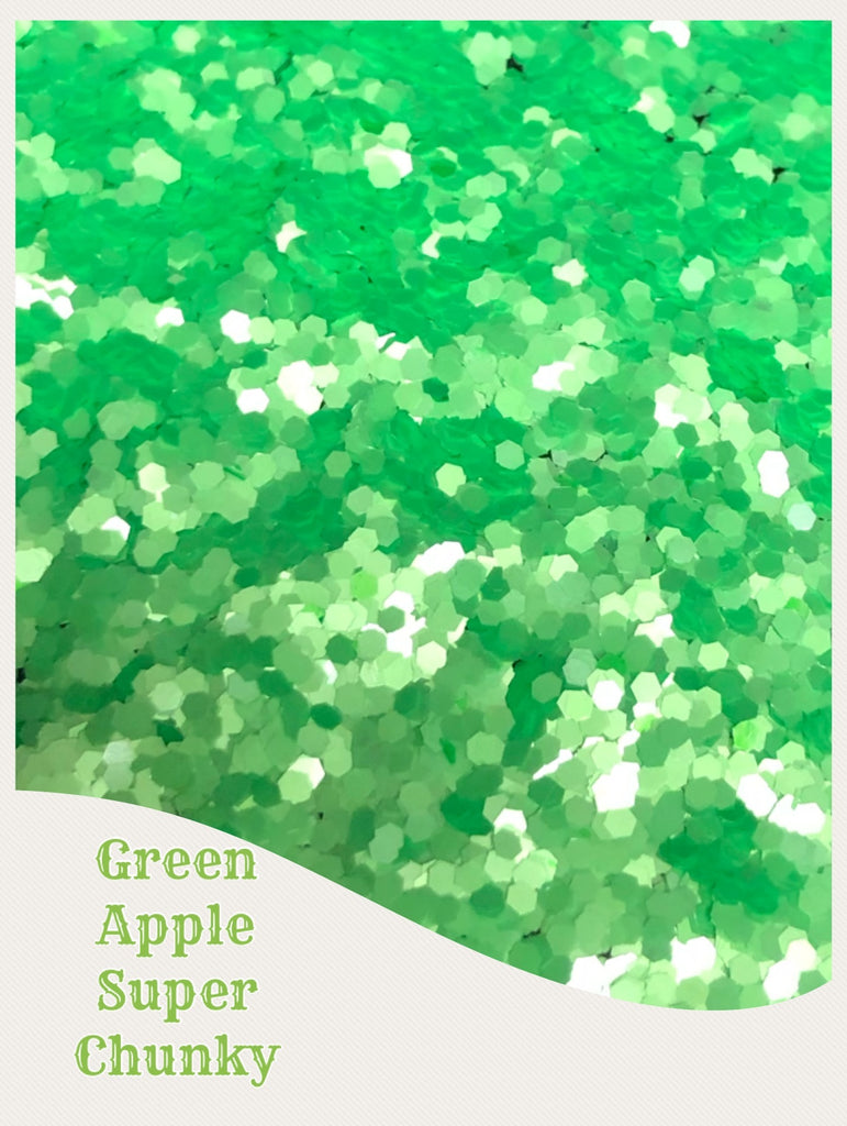 Green Apple Neon Pearl Super Chunky Glitter