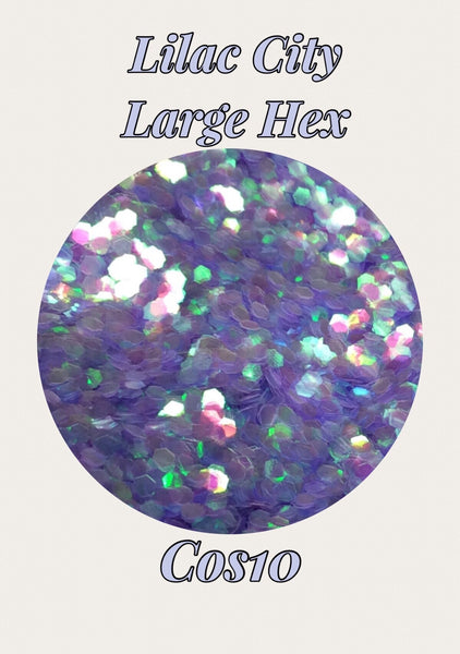 Lilac City Large Hex Cosmetic Glitter