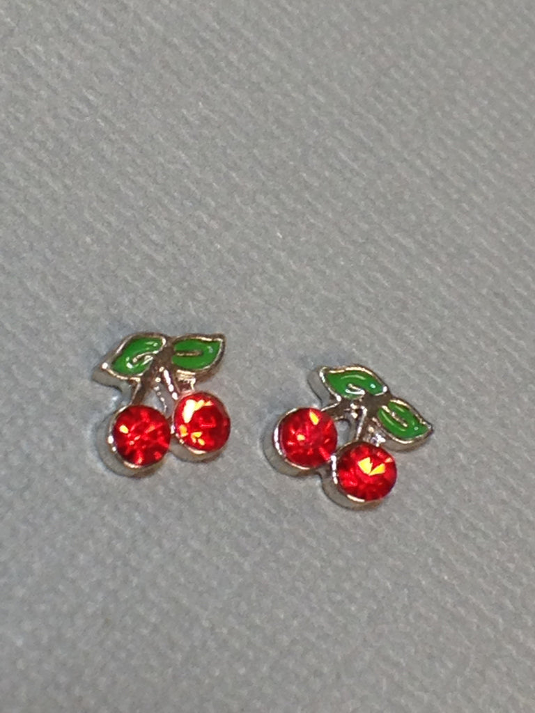 Small Cherries in Silver Setting (2)
