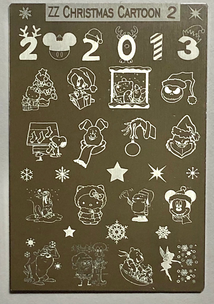 Cartoon Christmas Stamping Plates