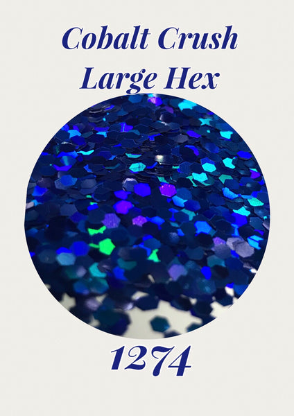 Cobalt Crush Large Hex Hologram Chunky  Glitter