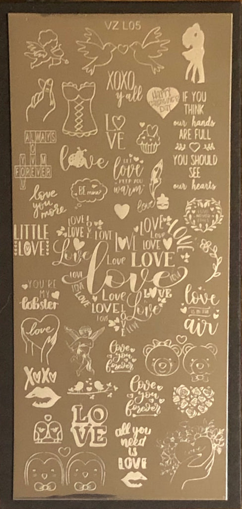 Love Quotes Stamping Plate