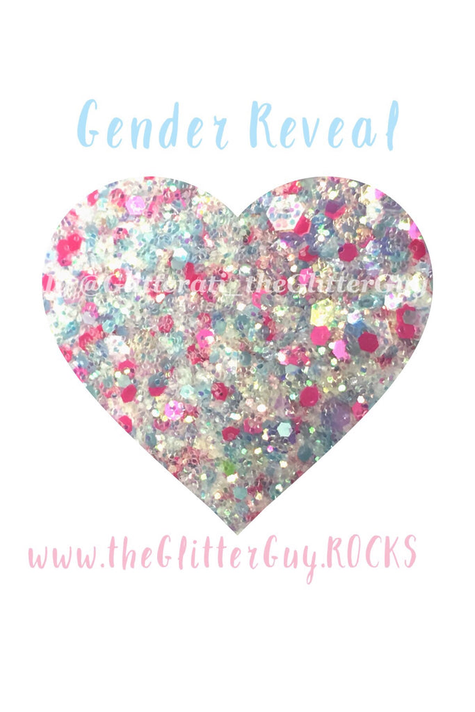Gender Reveal Chunky Glitter Mix