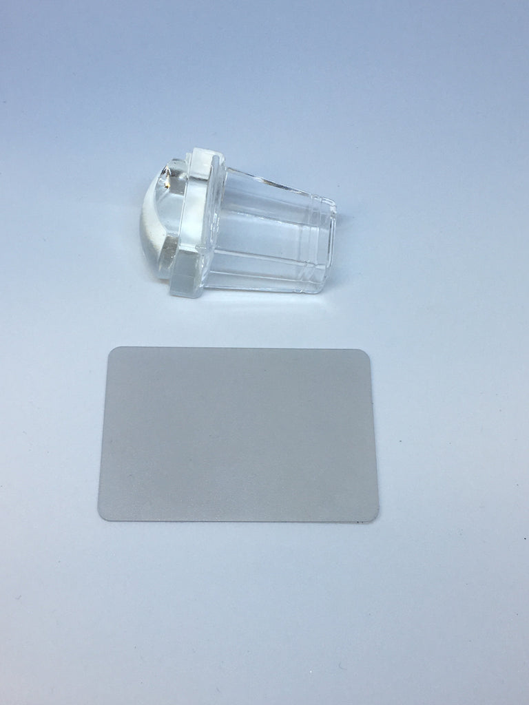 Small Clear Handled Stamper with Scraper
