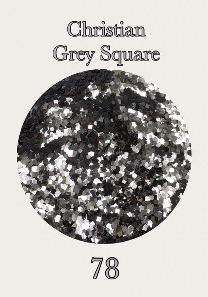 Christian Grey Square Glitter