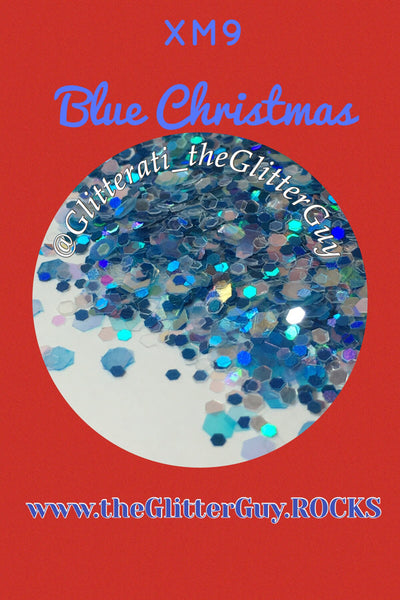 Blue Christmas Chunky Glitter Mix