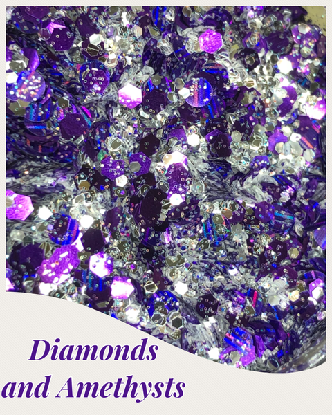 Diamond and Amethyst Glitter Mix