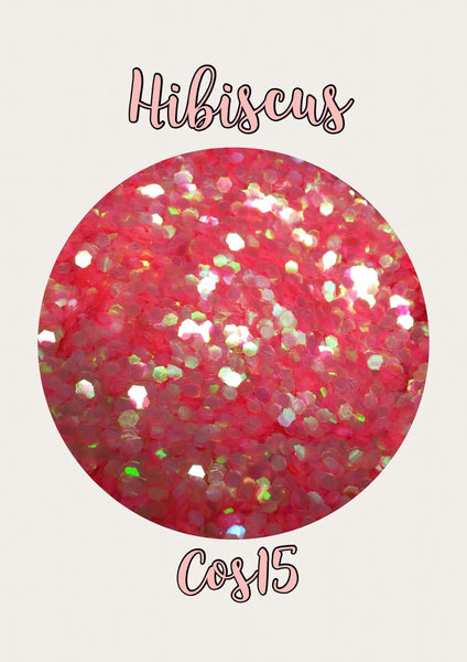 Hibiscus Large Hex Cosmetic Glitter