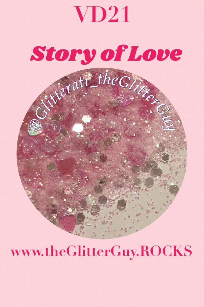 Story of Love Valentine's Chunky Mix Glitter