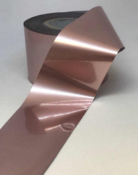 Solid Rose Gold Satin Nail Foil