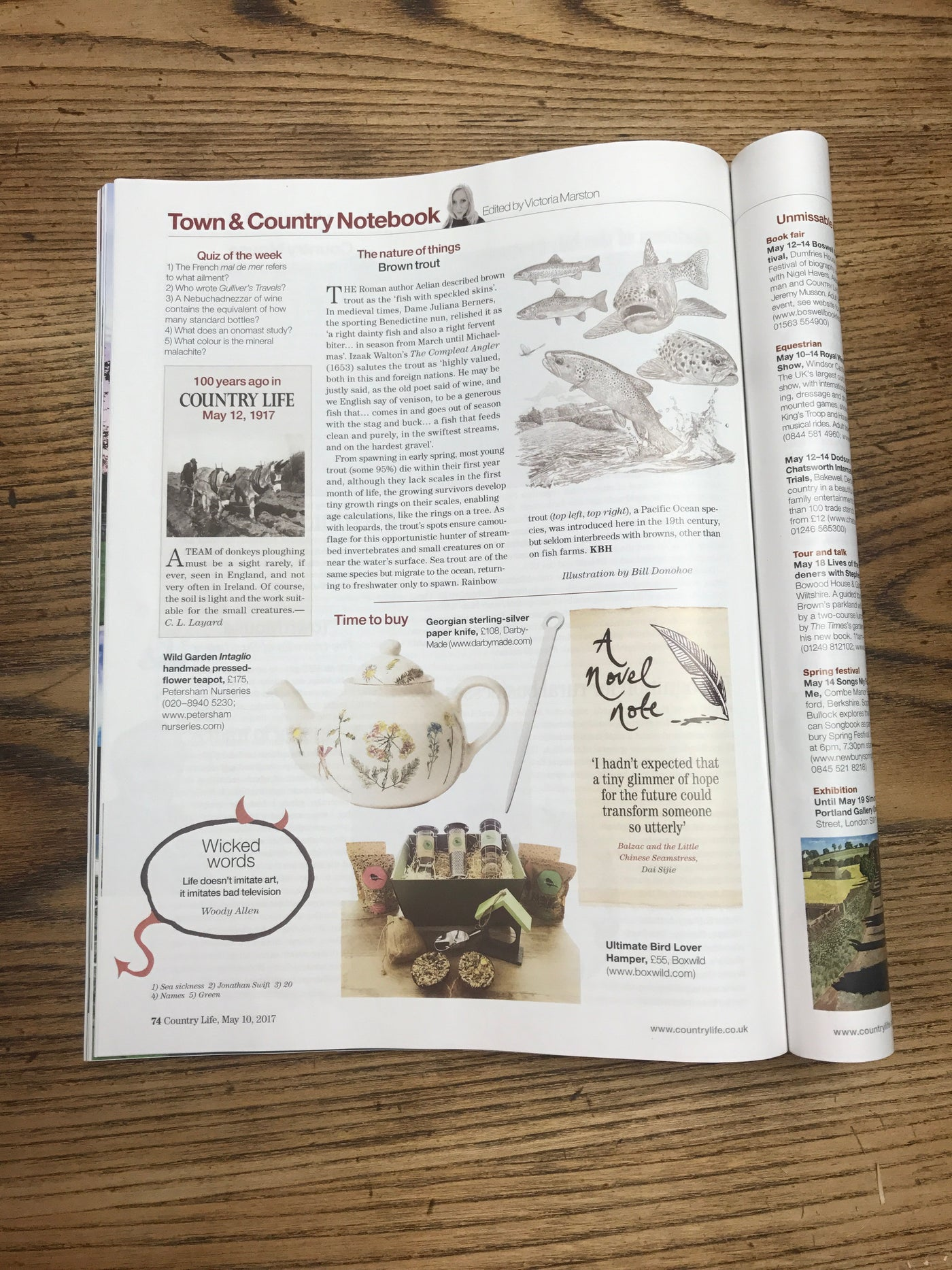 Boxwild features in Country Life magazine