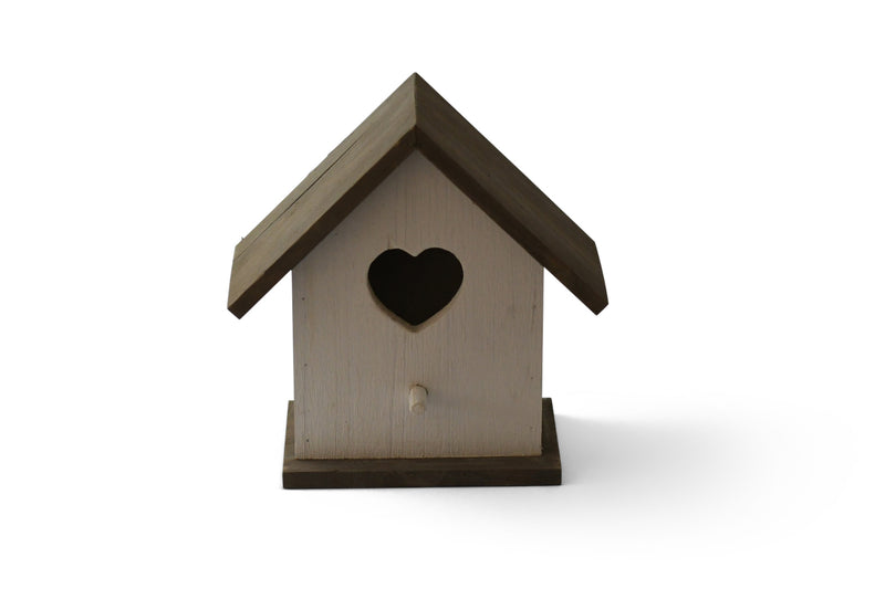 cream and grey bird house