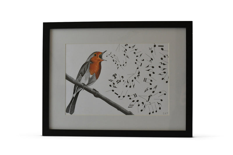 Robin painting - original from Sophie Kane