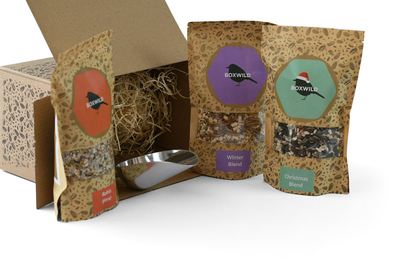 Christmas bird seed gift box - ideal gift for bird lovers