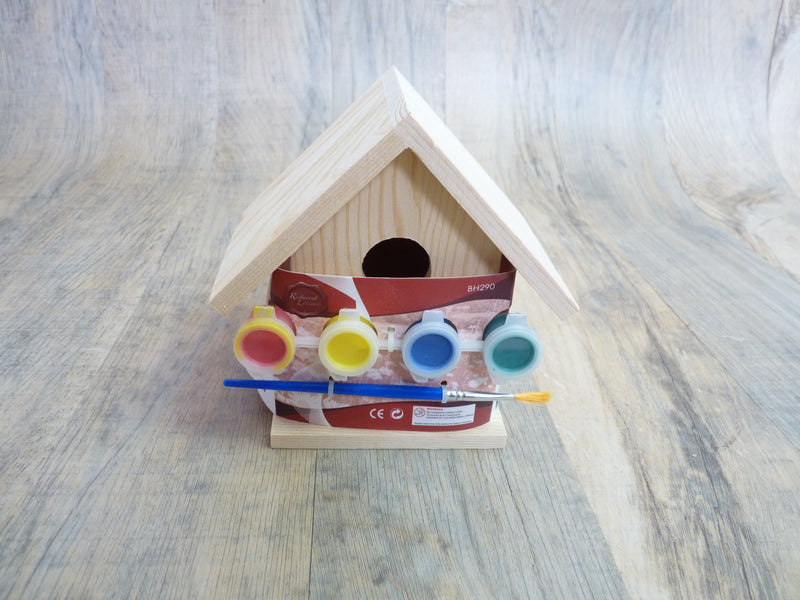paint your own bird box for kids