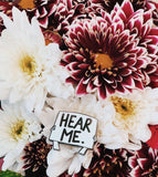 Hear Me Pin supporting AUT:CTION and the National Autistic Society