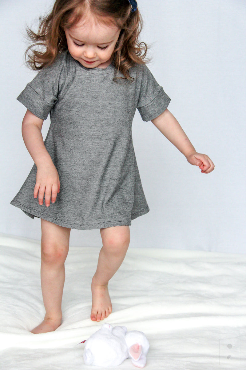 *New* The Little M Dress-Micro Stripe