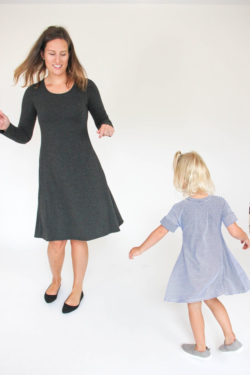 THAT Dress | Black Microstripe