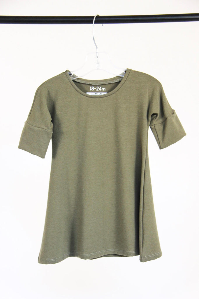 3/4 Sleeve Dress | Sage
