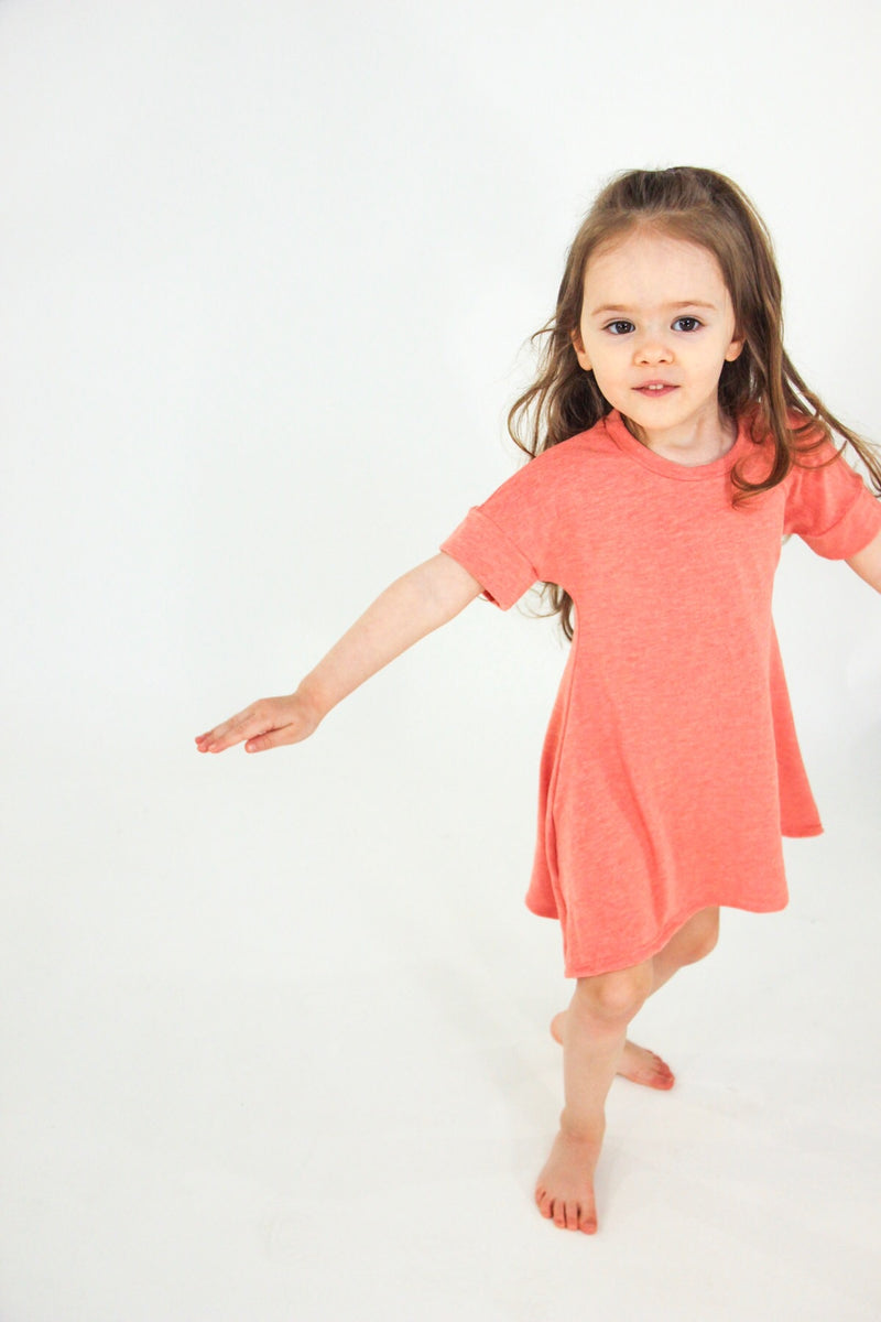 The Little M Dress | Fuzzy Peach