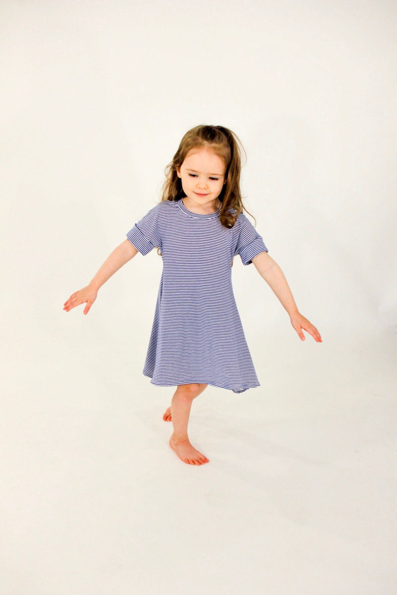 The Little M Dress | Blue Raspberry