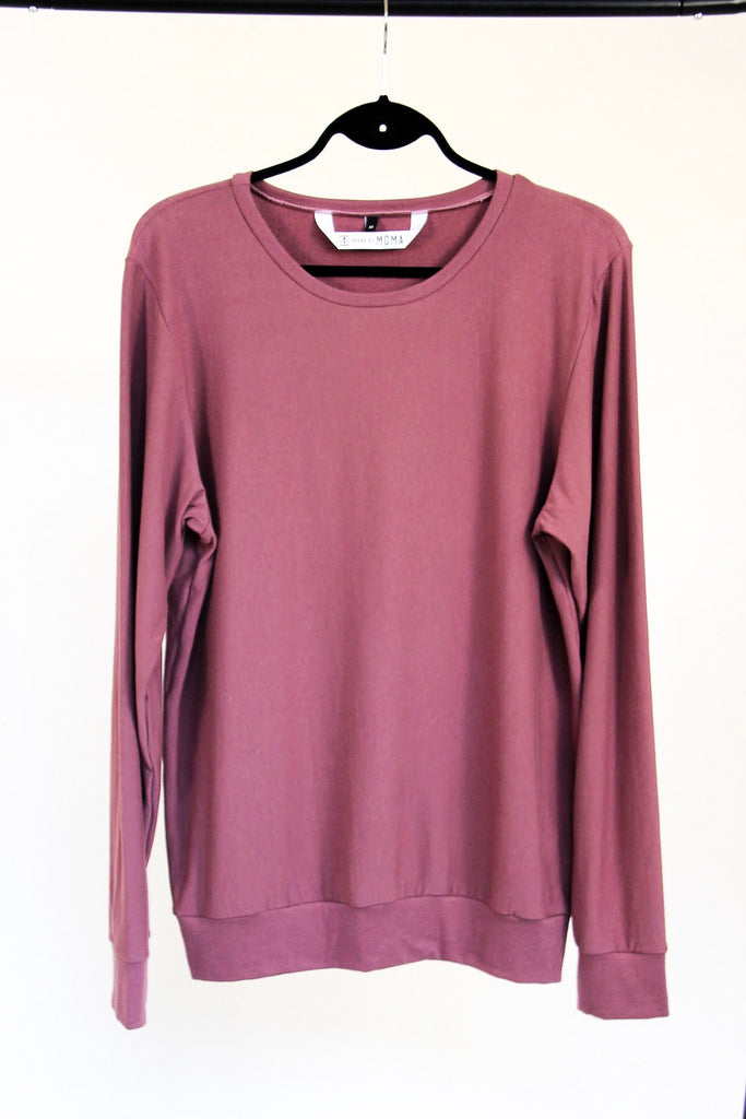 Classic Oversized Pullover | Deep Currant
