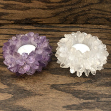 Quartz Points Tea Light Holder