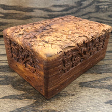 Carved Wooden Box (Flowers)