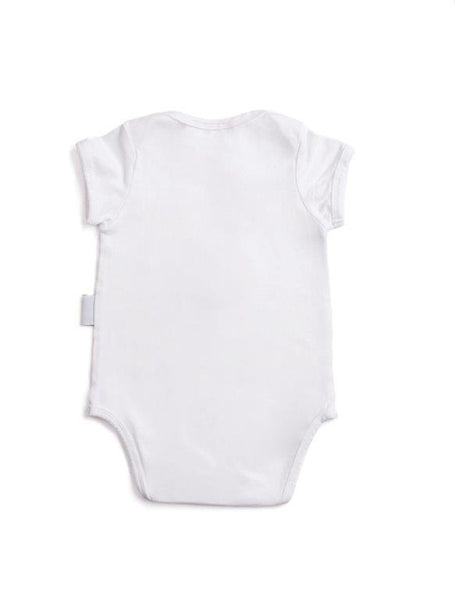 short sleeve baby vest with hadeda print