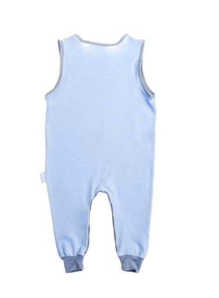 Baby Romper - Blue and grey