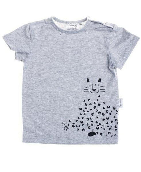 baby t-shirt with leopard print