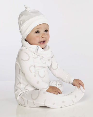 Basic Babygrow - All Smiles - Full Print White