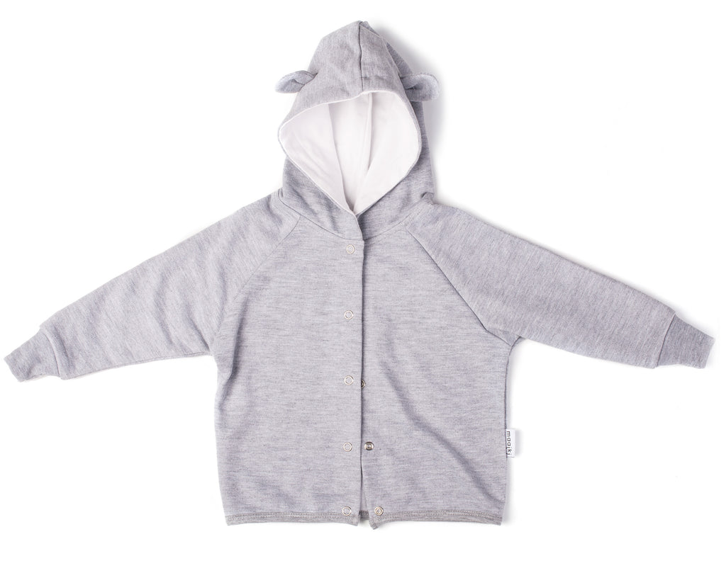 Hoody - Cutie Bear (Grey & White)