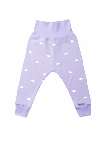 leggings with little white clouds