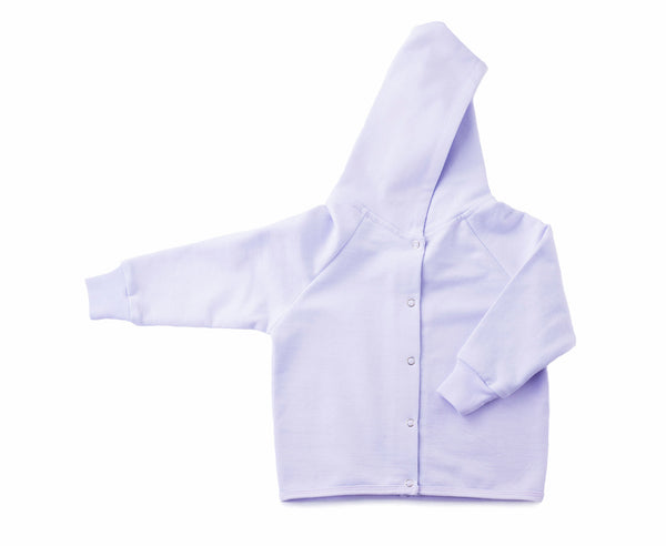 hoodies for babies in grey lilac