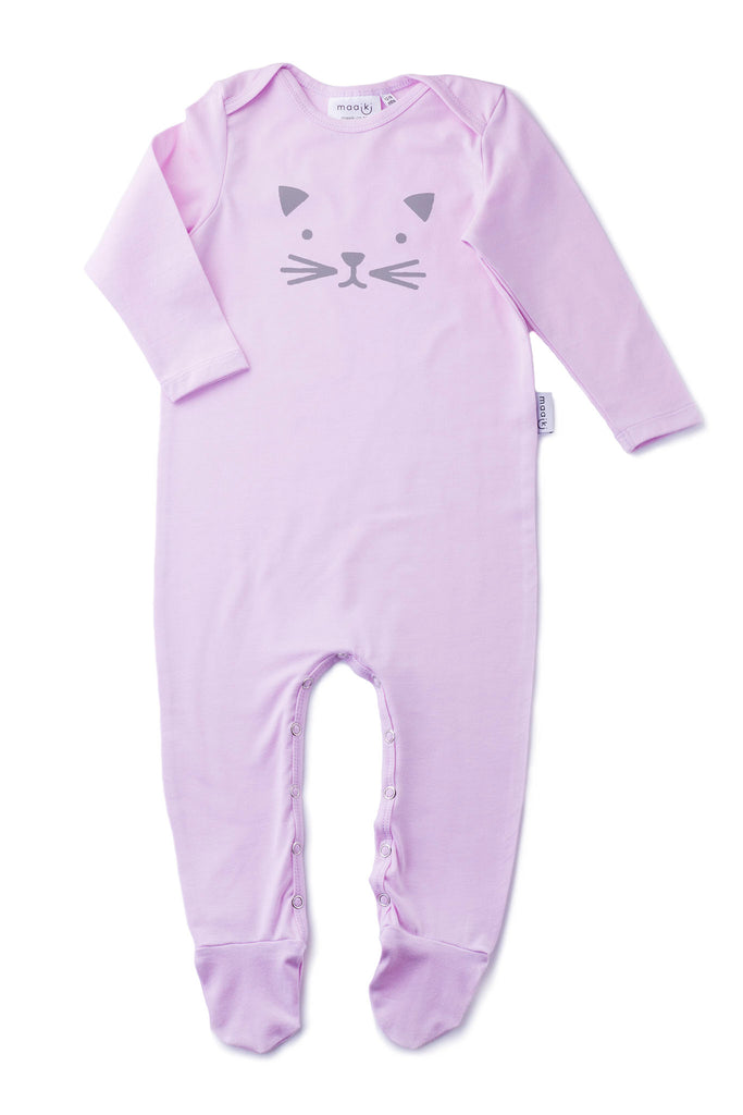 baby grow with cat print