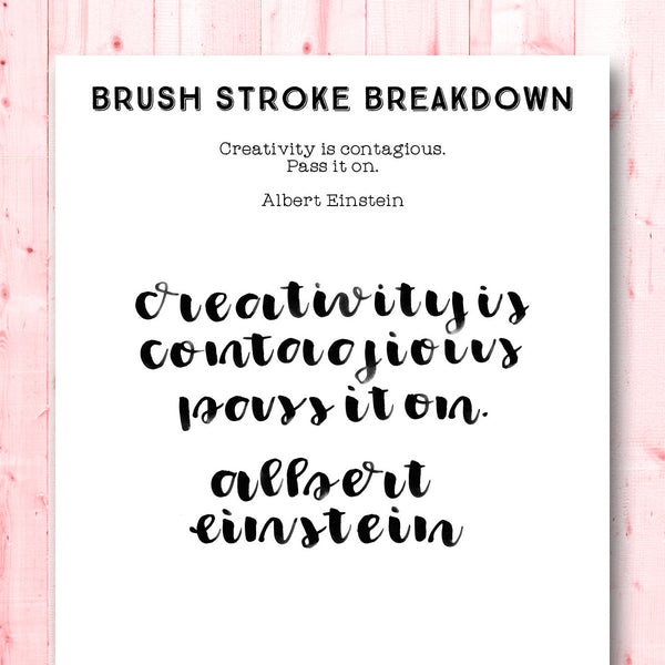 Quotes Gone Brushy: Albert Einstein - Creativity is Contagious