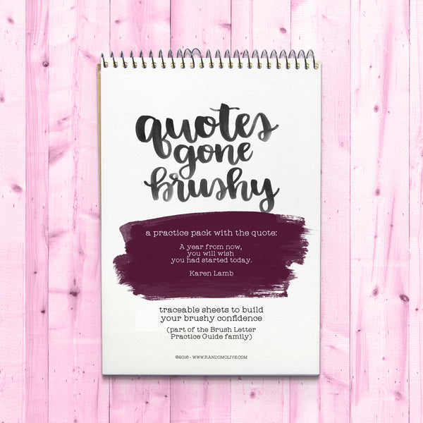 Quotes Gone Brushy: Karen Lamb - A Year From Now