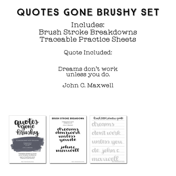 Quotes Gone Brushy: John C. Maxwell - Dreams don't work unless you do