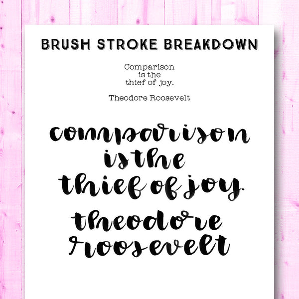 Quotes Gone Brushy: Theodore Roosevelt - Comparison is the Thief of Joy.
