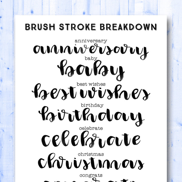Words Gone Brushy: Celebrations
