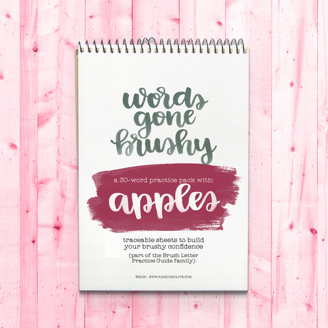 Words Gone Brushy: Apples