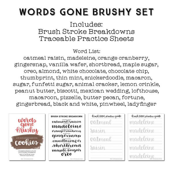 Words Gone Brushy: Cookies