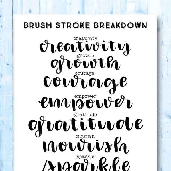 Words Gone Brushy: Positivity (Volume 1)