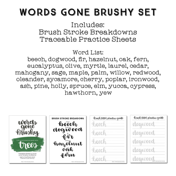 Words Gone Brushy: Trees
