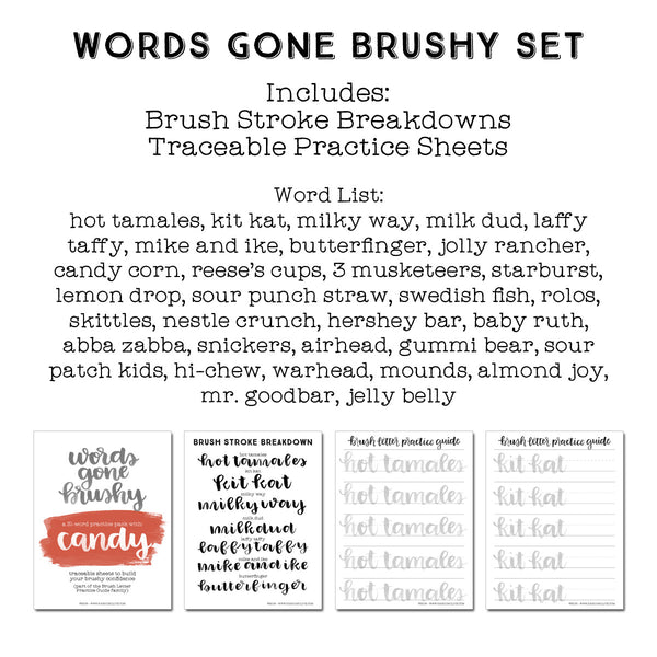Words Gone Brushy: Candy