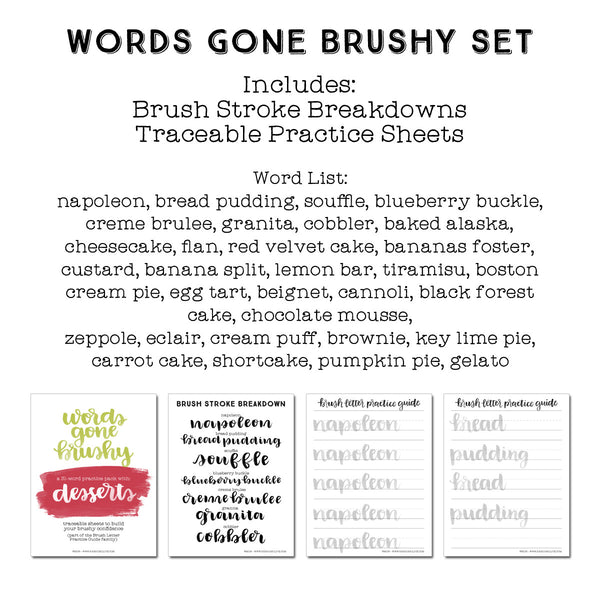 Words Gone Brushy: Desserts