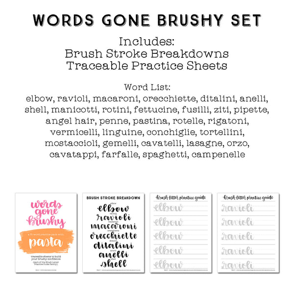 Words Gone Brushy: Pasta