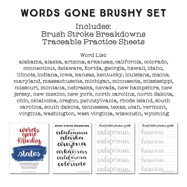 Words Gone Brushy: United States